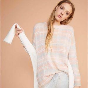 LOU & GREY Plaid Light Alpaca Blend Sweater Medium